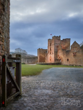 Ludlow Castle keep viewed from the gatehouse.     Size 3425 x 4567, 13.1MB
