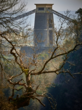 An unusual view of the Clifton Suspension Bridge in Bristol.     Size 4232 x 5643, 23.4MB