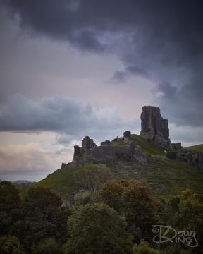 Storm Alex over Corfe Castle