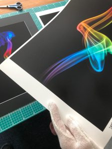 Inspecting a fine art print