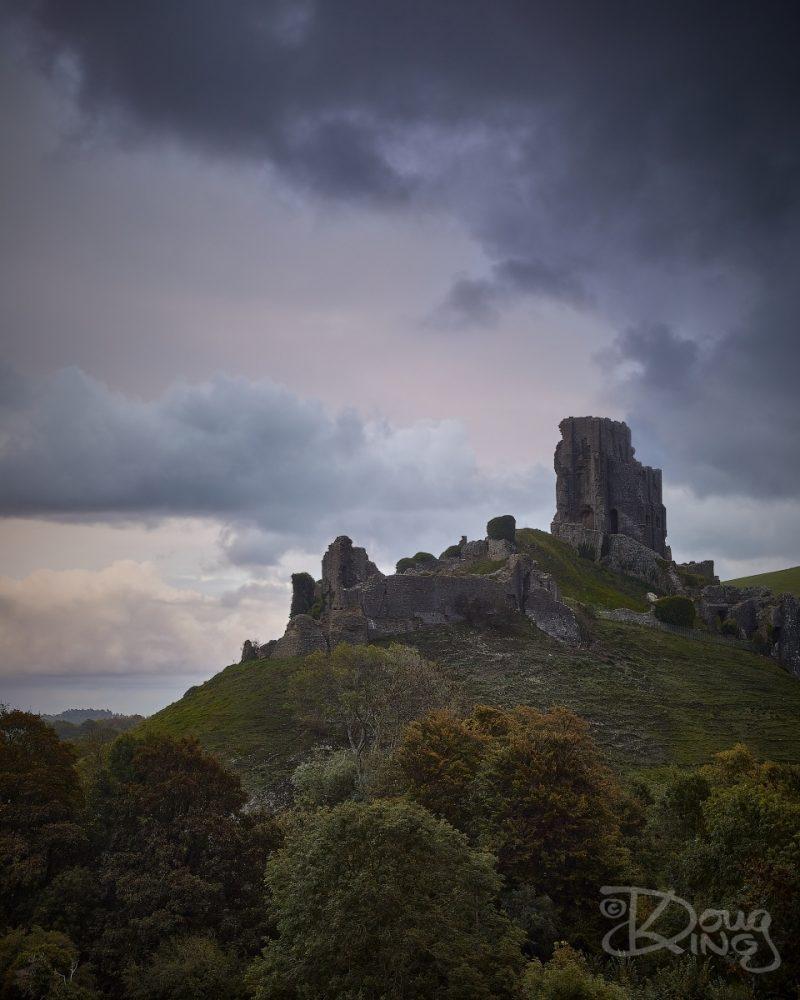 Storm Alex at Corfe Castle